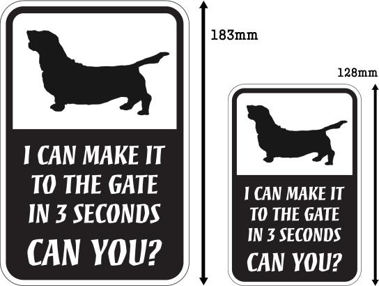 CAN YOU?マグネットサイン:バセットハウンド
