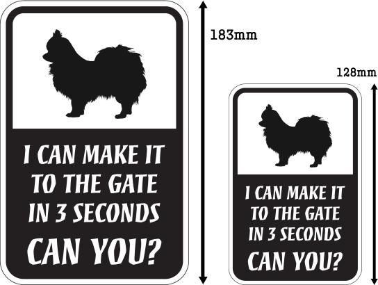 CAN YOU?マグネットサイン:ロングコートチワワ