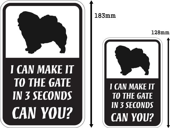CAN YOU?マグネットサイン:チャウチャウ