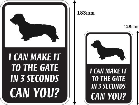 CAN YOU?マグネットサイン:ワイヤーコートダックスフンド