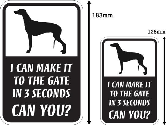 CAN YOU?マグネットサイン:グレイハウンド