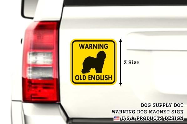 WARNING OLD ENGLISH マグネットサイン:オールドイングリッシュ(イエロー)