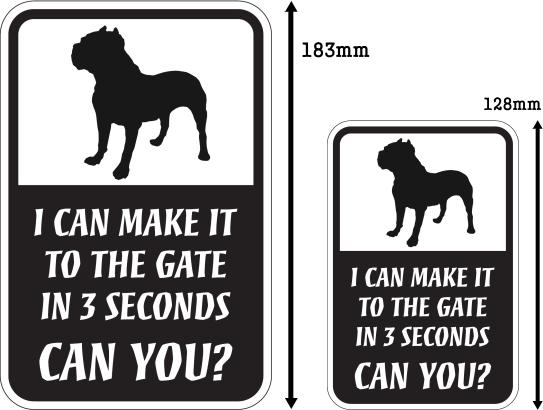 CAN YOU?マグネットサイン:ピットブル