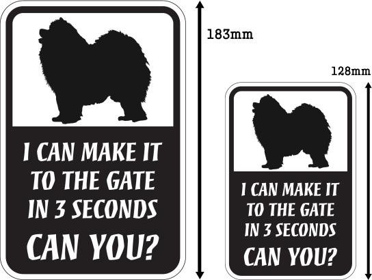 CAN YOU?マグネットサイン:サモエド