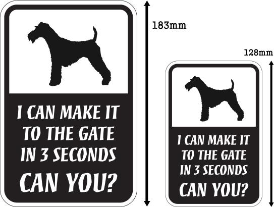 CAN YOU?マグネットサイン:ワイヤーフォックステリア