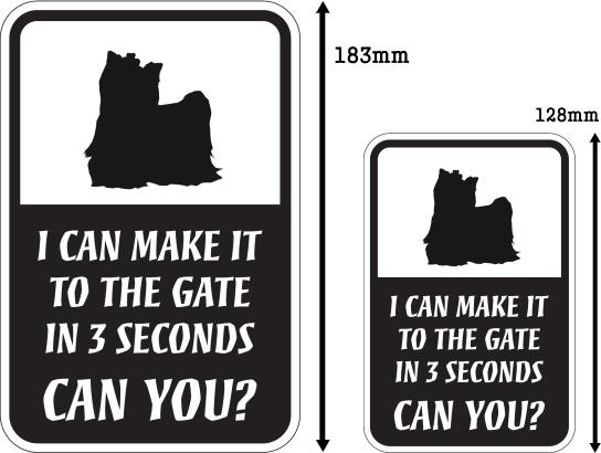 CAN YOU?マグネットサイン:ヨークシャーテリア