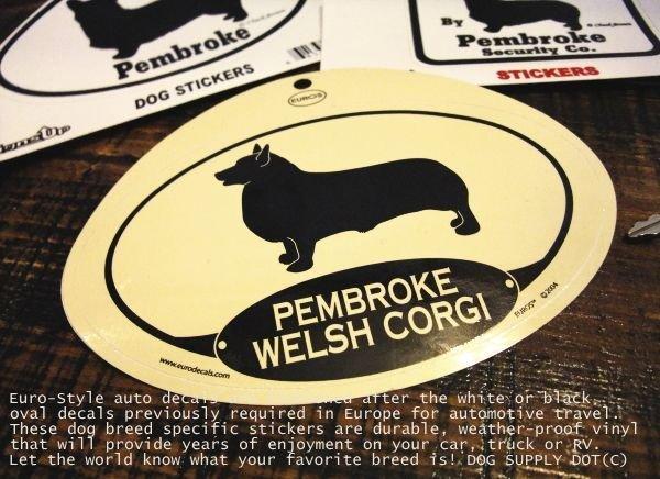 画像1: EUROSステッカー:ペンブロークウェルシュコーギー (1)
