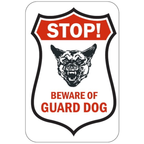 画像1: STOP! BEWARE OF GUARD DOG マグサイン (1)