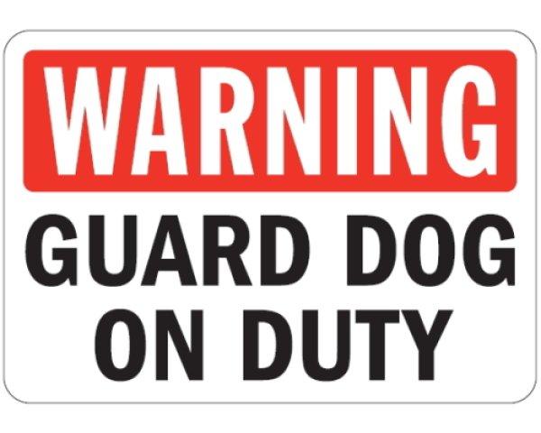 画像1: WARNING, GUARD DOG ON DUTYマグサイン (1)