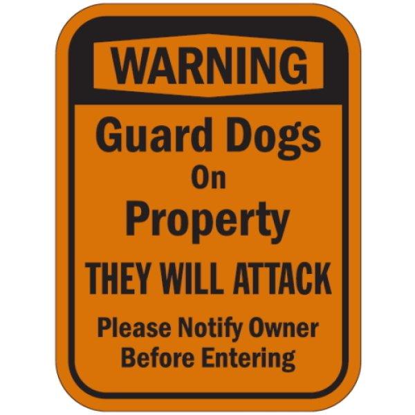 画像1: 〔WARNING〕Guard Dogs On Property マグサイン (1)