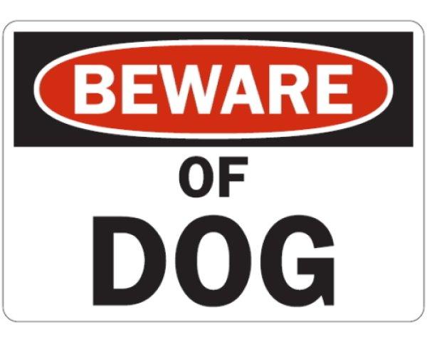 画像1: (BEWARE) OF DOG マグサイン (1)