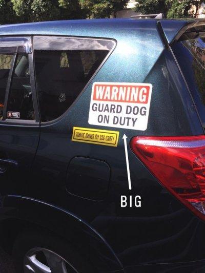画像1: WARNING, GUARD DOG ON DUTYマグサイン