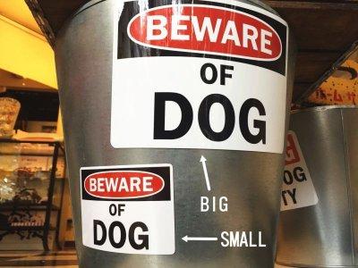 画像1: (BEWARE) OF DOG マグサイン