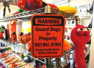 画像1: 〔WARNING〕Guard Dogs On Property マグサイン