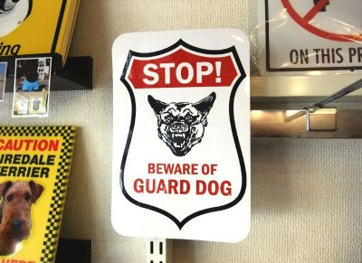 画像2: STOP! BEWARE OF GUARD DOG マグサイン