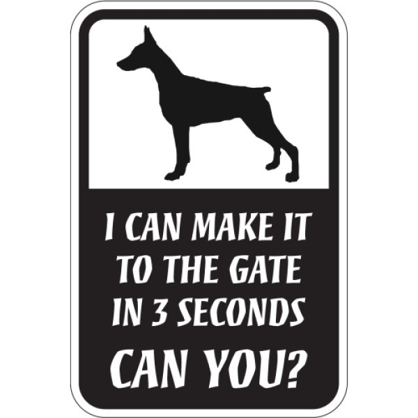 画像1: CAN YOU?マグネットサイン:ドーベルマン(立ち耳) (1)