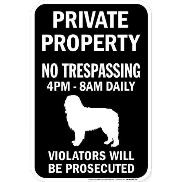 画像1: PRIVATE PROPERTY ブラックマグネットサイン:バーニーズマウンテンドッグ (1)