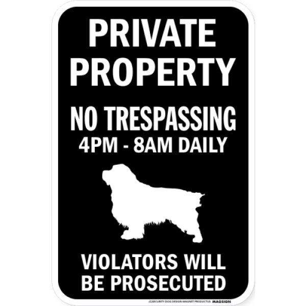 画像1: PRIVATE PROPERTY ブラックマグネットサイン:クランバースパニエル (1)