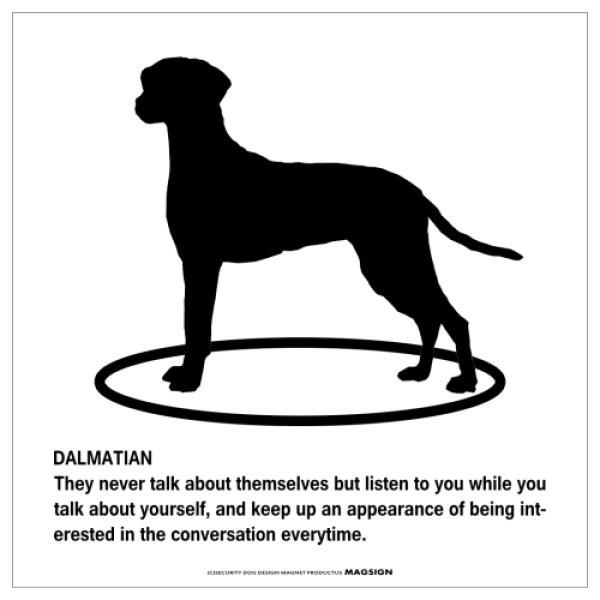 画像1: DALMATIAN'S POEMマグネットサイン:ダルメシアン(ホワイト) (1)