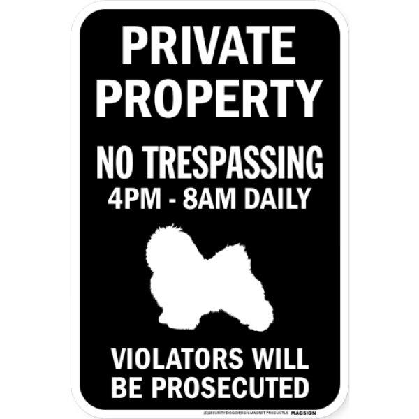 画像1: PRIVATE PROPERTY ブラックマグネットサイン:ハバニーズ (1)