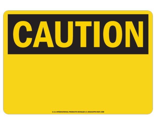 画像1: オーダーマグサイン:CAUTION(BLACK) (1)