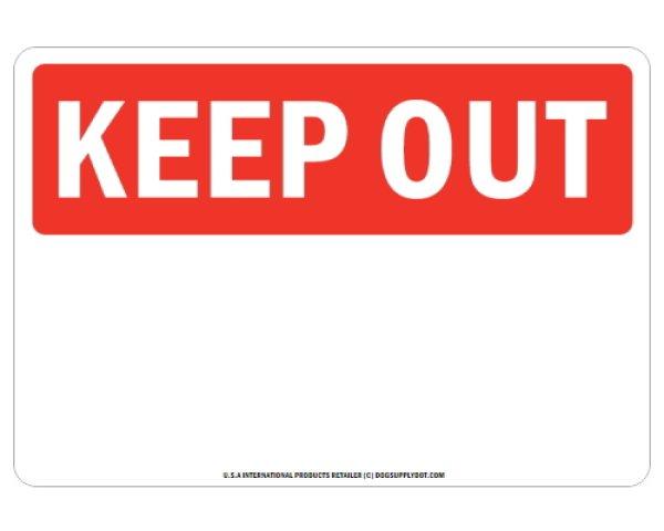 画像1: オーダーマグサイン:KEEP OUT (1)