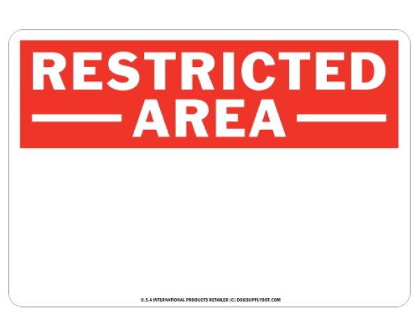 画像1: オーダーマグサイン:RESTRICTED -AREA- (1)