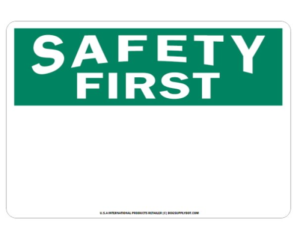 画像1: オーダーマグサイン:SAFETY FIRST (1)