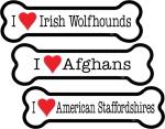 英語犬種名の骨型ボーンマグネットステッカー Made in U.S.A