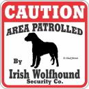 犬注意-犬種警備会社CAUTION看板