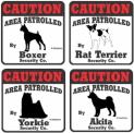 CAUTION犬種別ステッカー:屋外用・車用(カーステッカー)