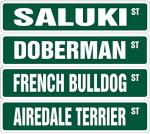 アメリカンストリートな犬サインボード(USA道路標識看板)