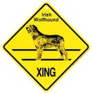 XINGサインボード(犬横断注意!)プラスチック看板