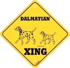 犬が横断します看板!XING2頭(犬種別サインボード)