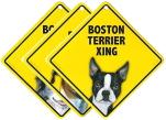 ビニールコーティングした犬種イラストのラミネートサインボード