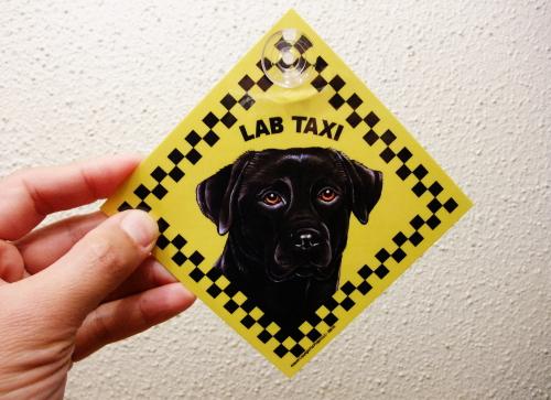 ラブ・タクシーのラミネートサイン(吸着盤つき)