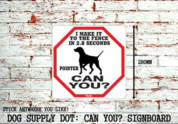 ポインター犬警戒中 英語看板 アメリカ輸入サインボード