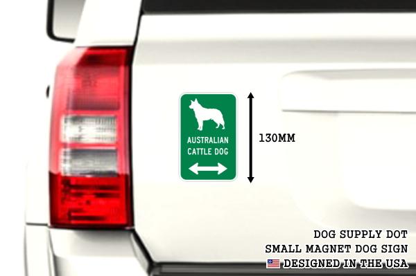 AUSTRALIAN CATTLE DOG イラスト&矢印 マグネットサイン