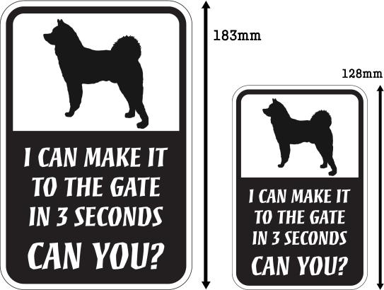 CAN YOU?マグネットサイン:秋田犬
