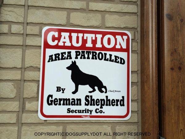 ジャーマンシェパード注意 英語看板 アメリカ輸入サインボード