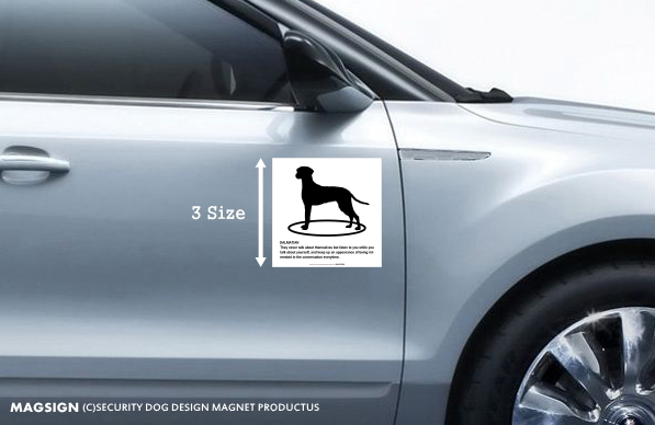 DALMATIAN(ダルメシアン)車用マグネットステッカー