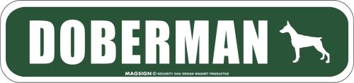 DOBERMAN ストリートマグネットサイン:ドーベルマン