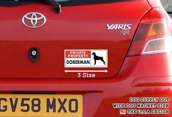 PRIVATE PROPERTY DOBERMAN ワイドマグネットサイン:ドーベルマン