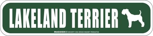LAKELAND TERRIER ストリートマグネットサイン:レイクランドテリア