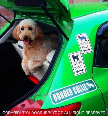 アメリカの道路標識、ドッグ犬デザインのストリートマグネットサイン