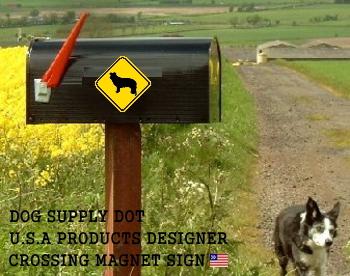 日本アメリカ道路警戒標識、横断注意の黄色いマグネットサイン