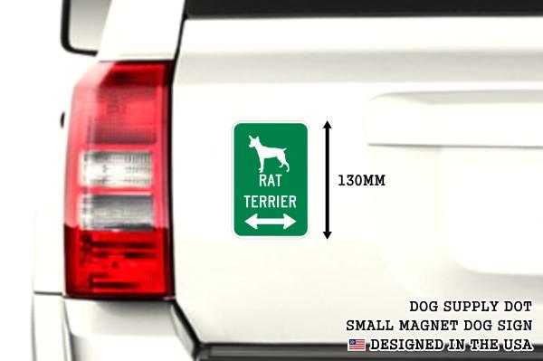 RAT TERRIER イラスト&矢印 マグネットサイン