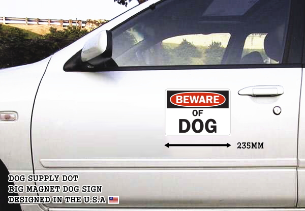 BEWARE OF DOG マグネットサイン