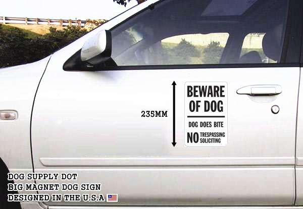 BEWARE OF DOG-DOG DOES BITE マグネットサイン