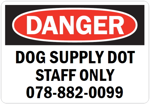 英語や数字・記号でアメリカンなオリジナルマグネット看板が作れるオーダーメイドのマグネットサイン:DANGER